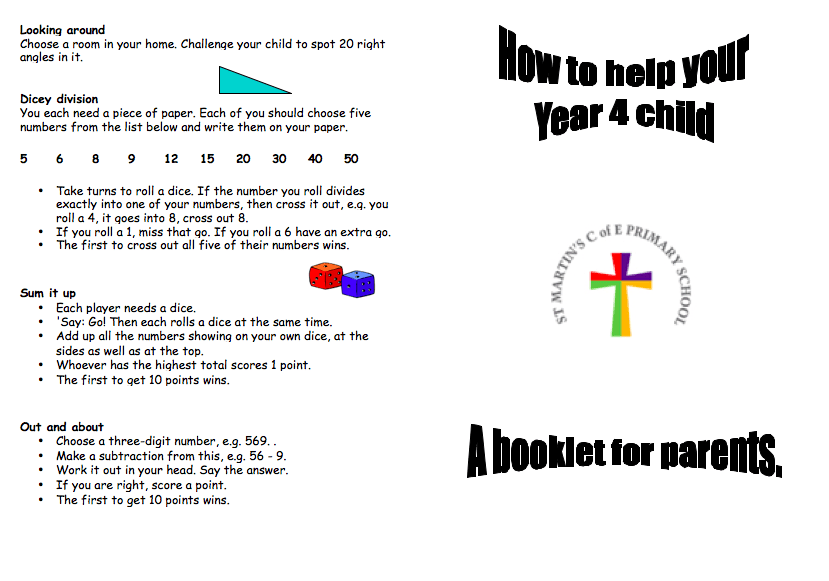 Year 4 Parent leaflet a