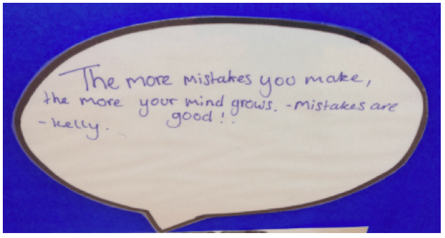 Growth mindset - the more mistakes you make